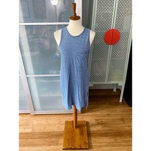 RD Style Striped Pocket Tank Dress in Blue